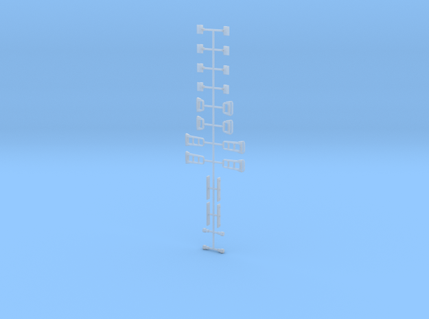 HO Scale F40PHM-2 Detail Parts Sprue in Smoothest Fine Detail Plastic