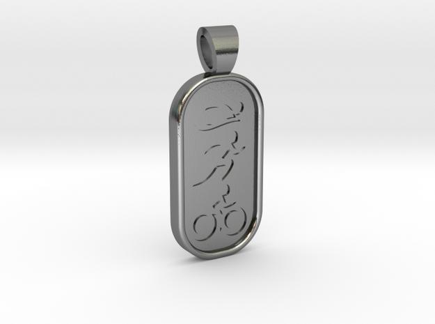 Triathlon [pendant] in Polished Silver