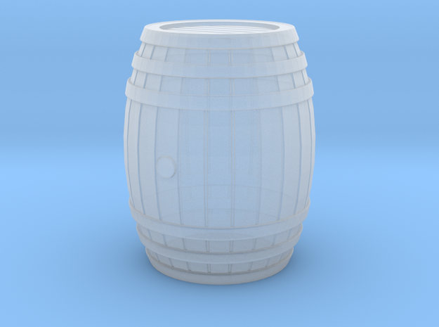 Wooden Barrel 01. 1:24 Scale  in Smooth Fine Detail Plastic