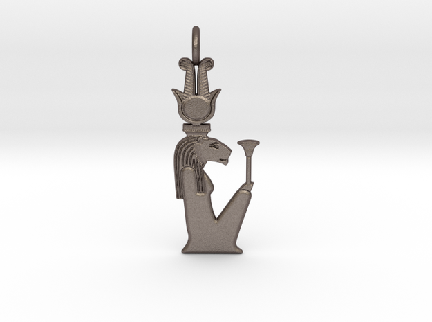 Repyt amulet in Polished Bronzed-Silver Steel