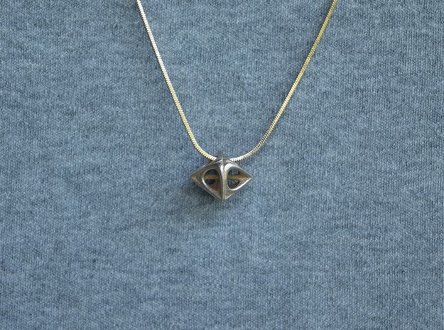 Pyramids pendant necklace in Natural Bronze