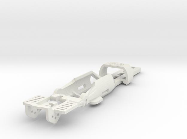 HO Slot Car Chassis - SL2-Mk4 release in White Natural Versatile Plastic