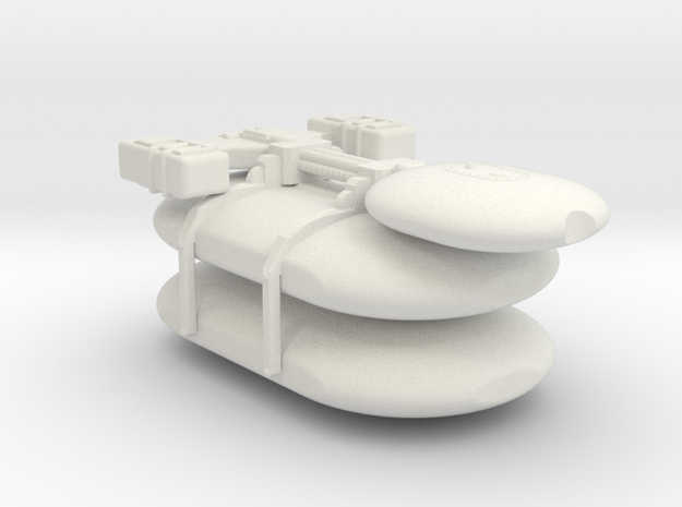 Omni Scale Gorn Large Freighter (Class-II) SRZ in White Natural Versatile Plastic