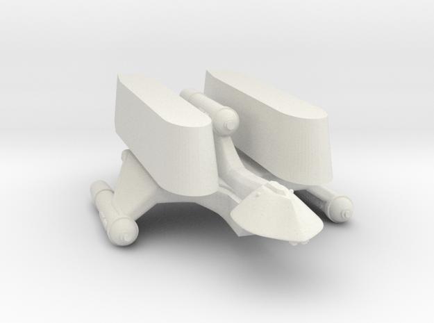 3125 Scale Romulan SparrowHawk-T+ 2-Pod Transport in White Natural Versatile Plastic