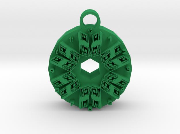 time is money pendant 2 in Green Processed Versatile Plastic