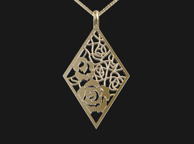 Rose-P in 14K Yellow Gold