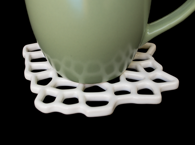 Voronoi Coaster 3d printed Looks great in any setting!