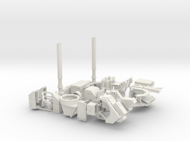 1:18 turret kit+select chassis bits in White Natural Versatile Plastic