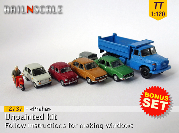 BONUS SET Praha (TT 1:120) in Smooth Fine Detail Plastic
