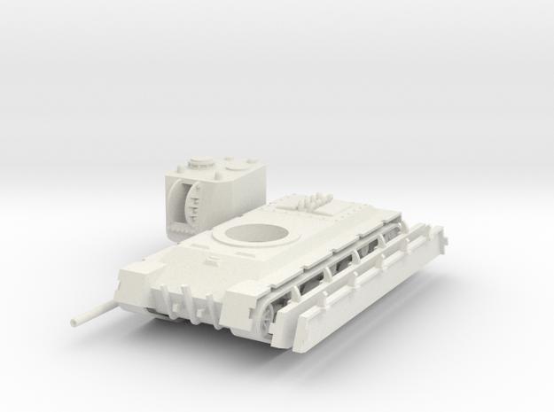 1/100 GVS Command Tank in White Natural Versatile Plastic