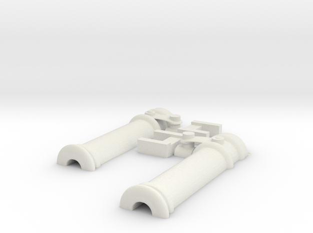 small cannon (swivel gun) for boats and ships in White Natural Versatile Plastic