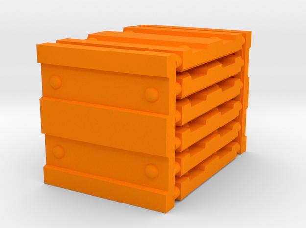 3 x 3 Wide Corrugation Set in Orange Processed Versatile Plastic