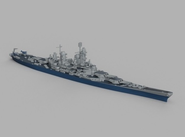 1/1800 USS Iowa 1943 in Smooth Fine Detail Plastic