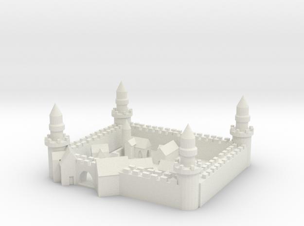 Medieval City in White Natural Versatile Plastic