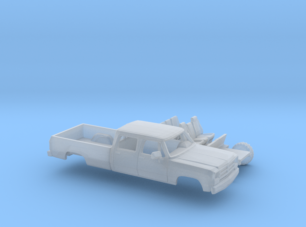 1/87 1988-91 Dodge Ram CrewCab Long Bed Kit in Smooth Fine Detail Plastic