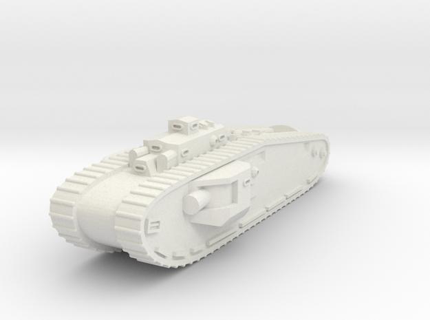 Mk VIII Liberty Tank (U.K. & U.S.) in White Natural Versatile Plastic