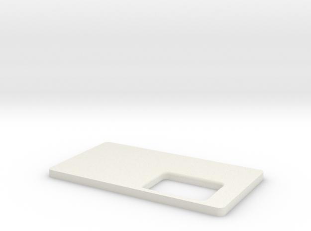 Brick Mechanical Squonk Mod Panel in White Natural Versatile Plastic