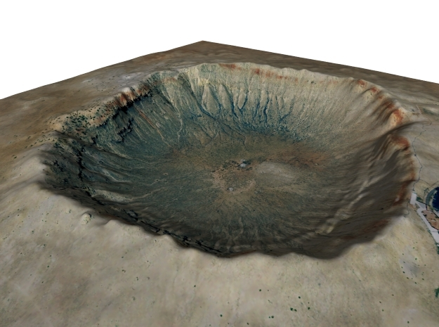 Meteor Crater Map, Arizona: 8 Inch in Matte Full Color Sandstone