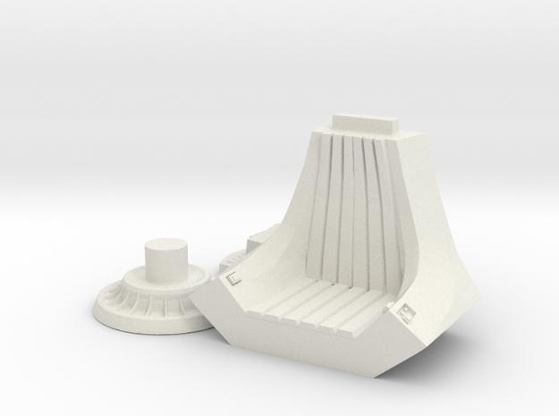PalpThrone28MM in White Natural Versatile Plastic