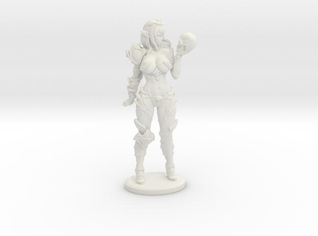 Dark Queen TOP DESIGN VARIANT Mini - 40mm in White Natural Versatile Plastic