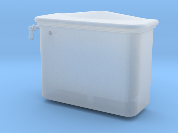 Toilet tank in Smoothest Fine Detail Plastic