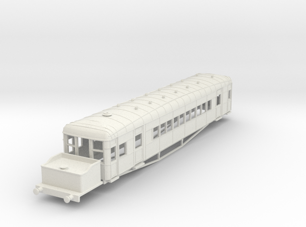 o-76-lner-clayton-steam-railcar-d91 in White Natural Versatile Plastic