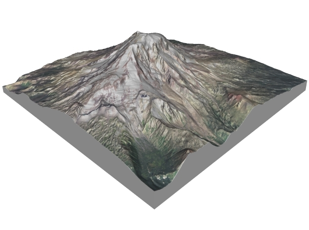 "Mount Adams: 6"" in Full Color Sandstone"