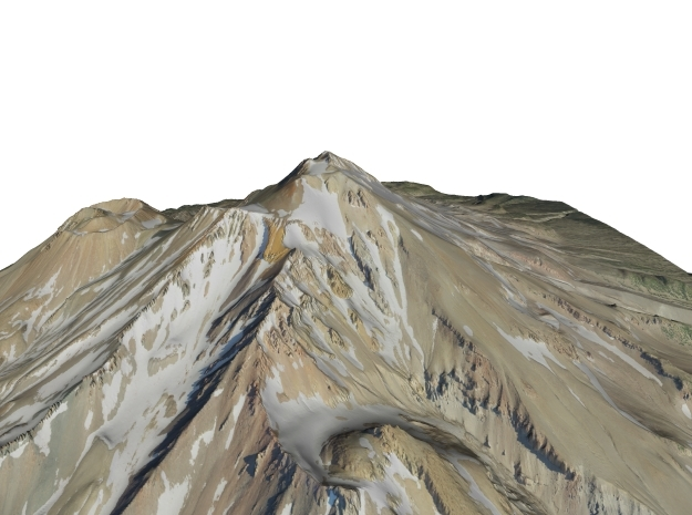"Mount Shasta Map: 9""x9"" in Matte Full Color Sandstone"