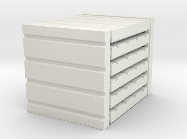 3 x 3 Four Panel Set in White Natural Versatile Plastic
