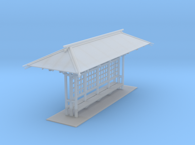 LAPAC Shelter without panes N Scale in Smooth Fine Detail Plastic