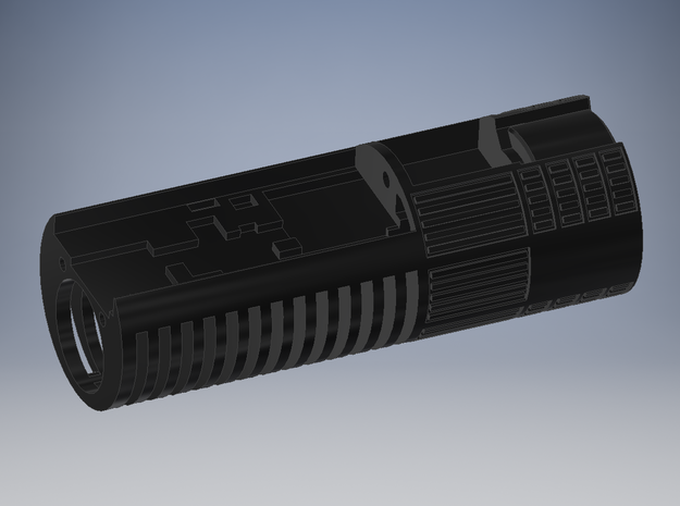 PP - Ben Solo TLJ - Main Chassis For CC in Black Natural Versatile Plastic