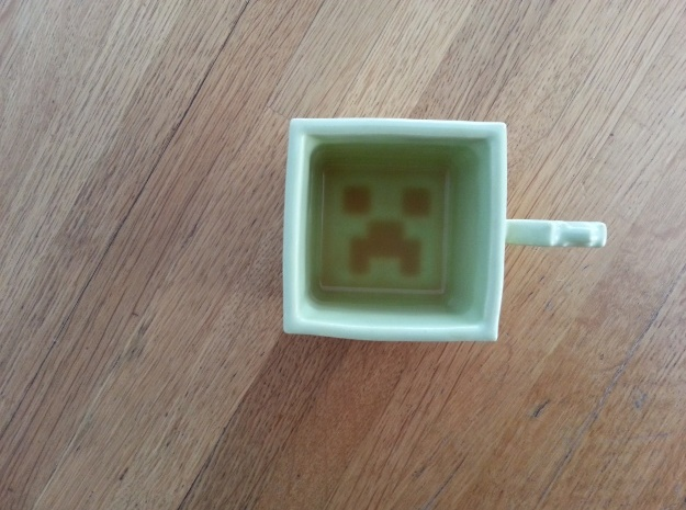 Sad Green Mug 3d printed