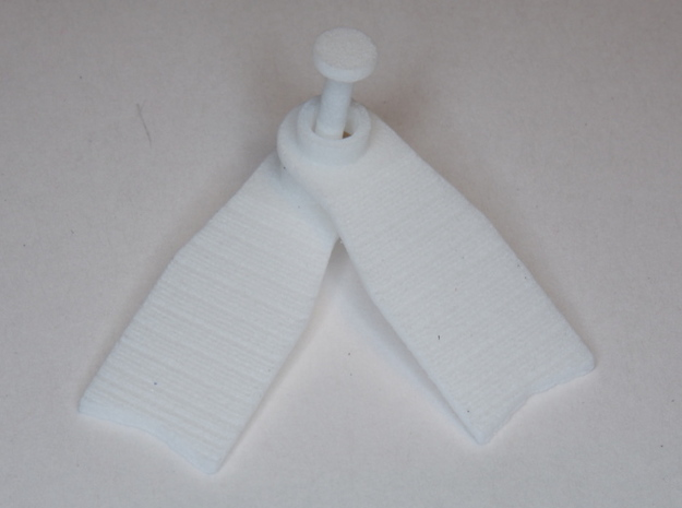 Minifig Apnoe Fins with angled blade 3d printed White Strong & Flexible Polished