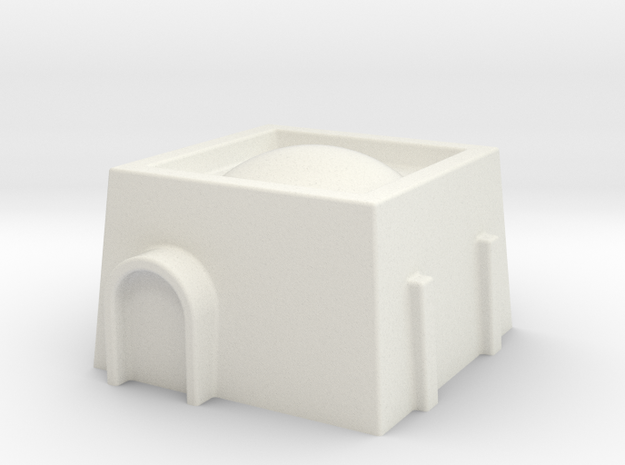 6mm Scale Star Wars Style Desert Dwelling in White Natural Versatile Plastic
