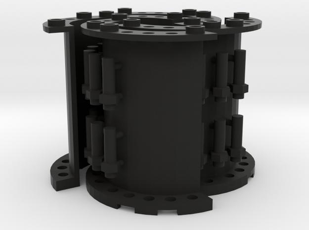 Sewer Pipe Straight Set in Black Natural Versatile Plastic