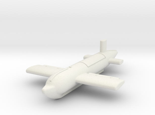 (1:144) Blohm & Voss BV 143B (Catapult Launched) in White Natural Versatile Plastic