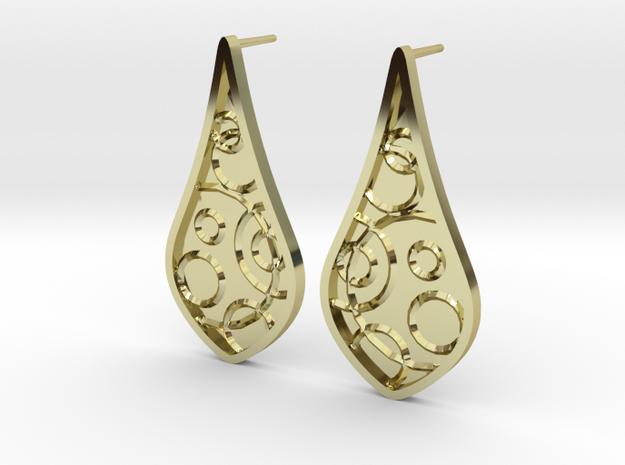 Emboss Earrings in 18k Gold Plated Brass