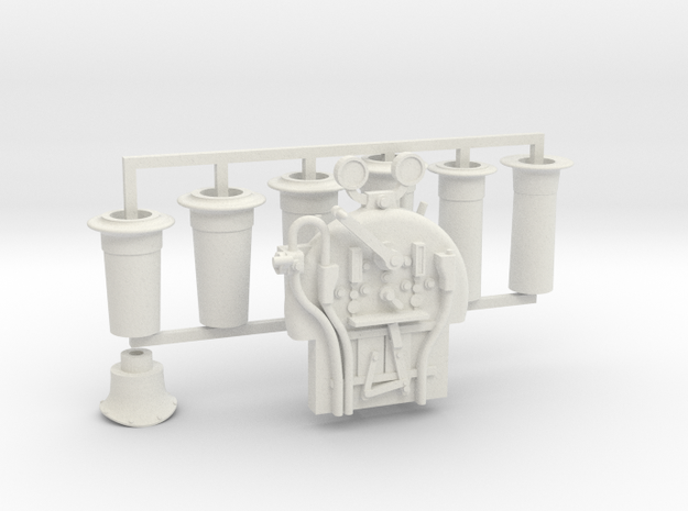 G1 - 10mm - FR E1 - J1 - Backhead Controls and Chi in White Natural Versatile Plastic