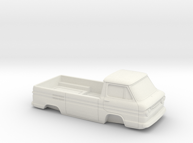 1/32 1961-65 Chevy Greenbrier PickUp Shell in White Natural Versatile Plastic