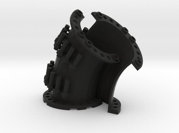 Sewer Pipe Curve Set in Black Natural Versatile Plastic