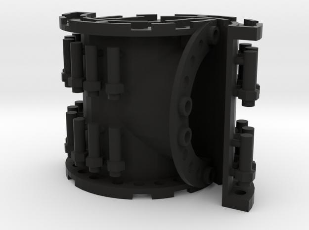 Sewer Pipe Tee Set in Black Natural Versatile Plastic