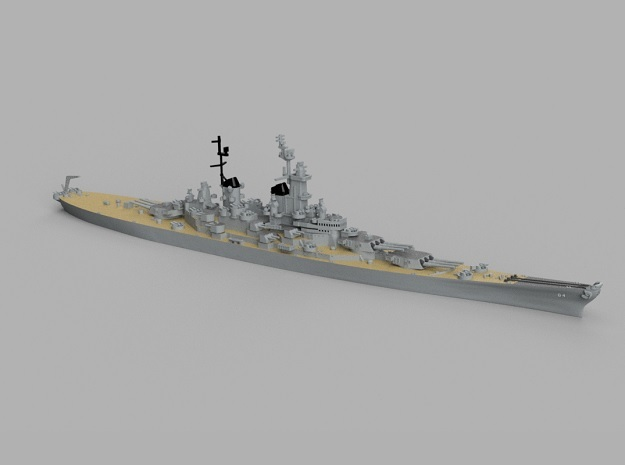 1/1800 USS Wisconsin 1952 in Smooth Fine Detail Plastic