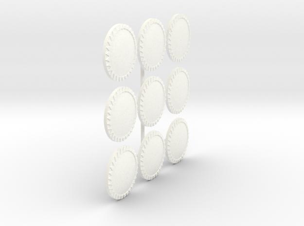 MACEDONIAN LIGHT SHIELD 2 X9  in White Processed Versatile Plastic