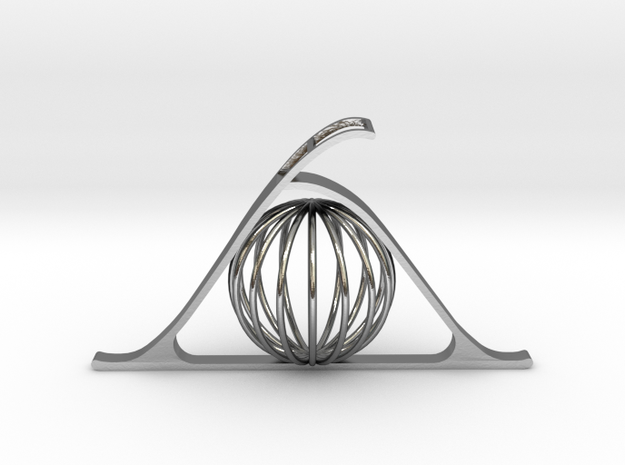 Key of Telepathy (Sphere) in Polished Silver