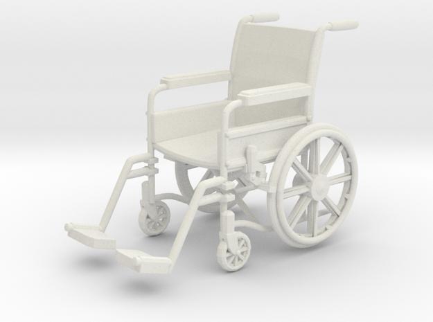 Wheelchair 01. 1:18 Scale in White Natural Versatile Plastic