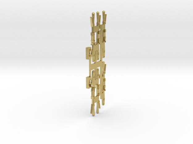 6 Leviers pour appareils à crans in Natural Brass