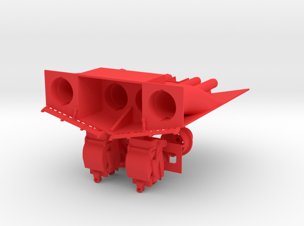 1/96 scale Freedom Class Water-Jet Block in Red Processed Versatile Plastic