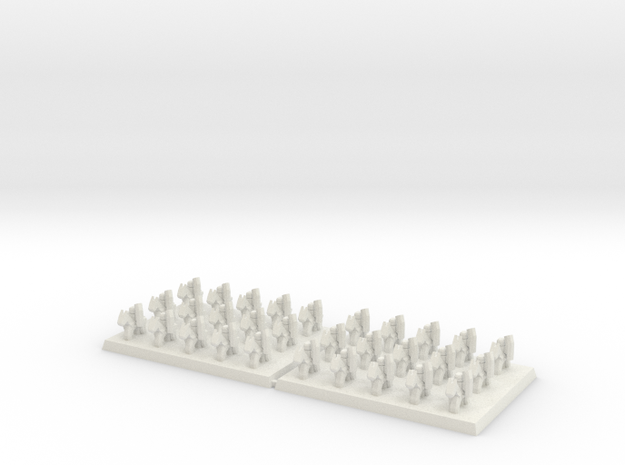 3mm DBA Light Cavalry 40x30mm (x2) in White Natural Versatile Plastic