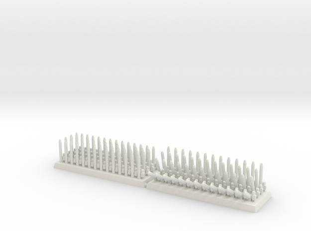 3mm DBA Pikes 40x15mm (x2) in White Natural Versatile Plastic