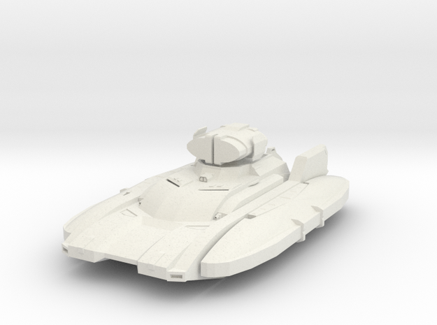 Hover Dacek Tank - Beam Weapon in White Natural Versatile Plastic
